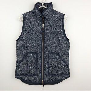 J.Crew • Printed Puffer Vest